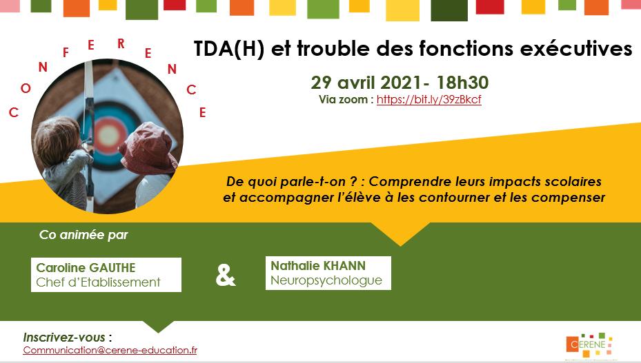Retour sur la conférence TDAH et trouble des fonctions exécutives du 29 avril 2021